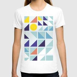 Sunny Geometric Regatta #pattern T-shirt