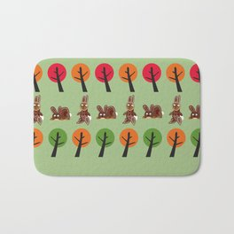 Watership Down Rabbits, inspired by El-ahrairah: A rabbit trickster folk hero Bath Mat