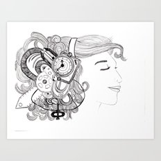 Robot Girl Art Print