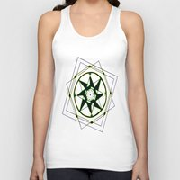 compass Tank Tops featuring Compass by Isa Gutierrez
