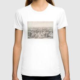 Vintage Pictorial Map of Savannah Georgia (1856) T-shirt