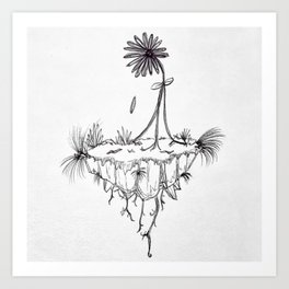 Inspiring - Breaking Free from the roots Art Print