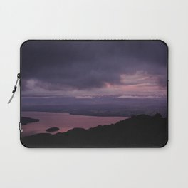 magenta sunset over lake te anau Laptop Sleeve