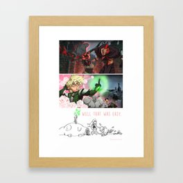 Final Showdown Framed Art Print