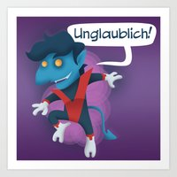 nightcrawler Art Prints featuring Little Nightcrawler by Alex Santaló