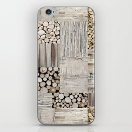 Wood Collage rustic weathered iPhone Skin