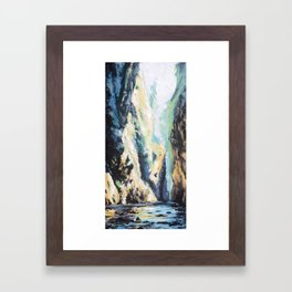oneonta gorge, Oregon Framed Art Print