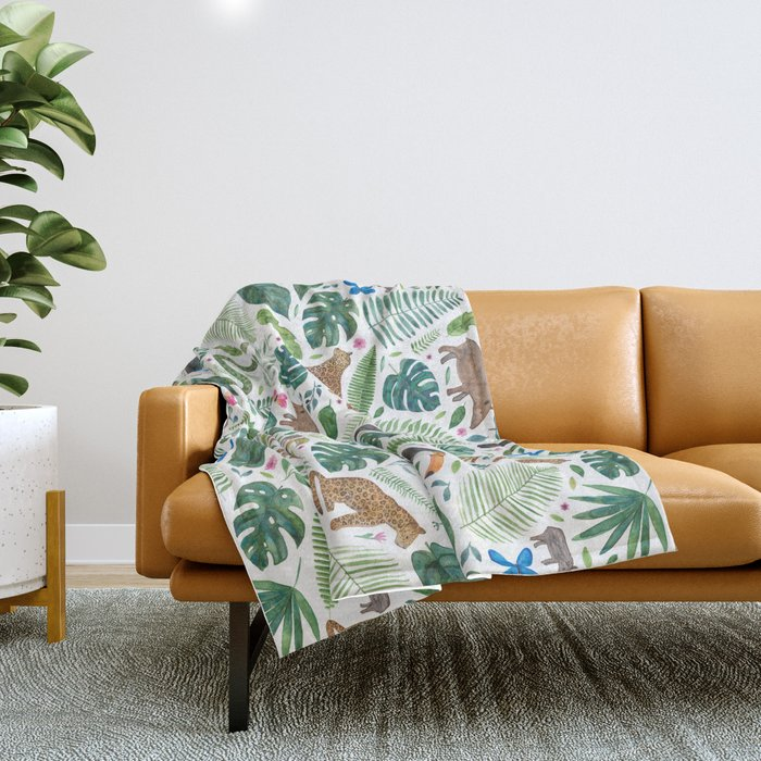Jungle/Tropical Pattern Throw Blanket