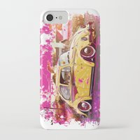 volkswagon iPhone & iPod Cases featuring yellowinpink beetle bug by Vector Art