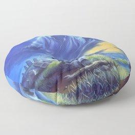 Ghost Beach Floor Pillow