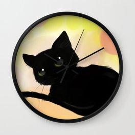 Neko cute! Wall Clock