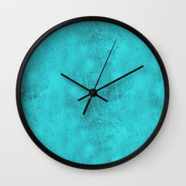 Metal Blue Turquoise Background Wall Clock