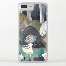 Capucine in the Forest Clear iPhone Case
