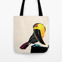 coco Tote Bags featuring Coco by Nicholas Darby