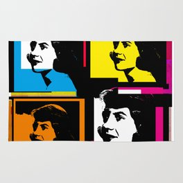 SYVIA PLATH (POP-ART STYLE 4-UP COLLAGE) Rug