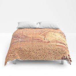 Sketchy Fennec Fox Comforters
