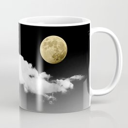 Black Desert Sky & Golden Moon // Red Rock Canyon Las Vegas Mojave Lune Celestial Mountain Range Coffee Mug