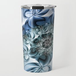 Dynamic Spiral, Abstract Fractal Art Travel Mug