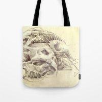 bones Tote Bags featuring Bones by Vilebedeva
