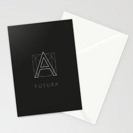 Futura Black Stationery Cards