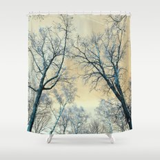 Trees nature infrared landscape Shower Curtain