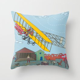First Flight 1903 Throw Pillow