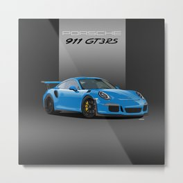 2016 Porsche 911 GT3 RS in Mexico Blue Metal Print