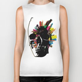 skull necklace Biker Tank