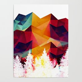 Forest made of color Poster