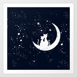 Cat Life Cat Love Art Print
