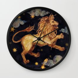 Zodiac sign Leo Wall Clock