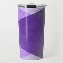 purple triangles Travel Mug