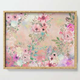 Botanical Fragrances in Blush Cloud Serving Tray