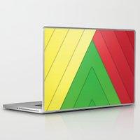 rasta Laptop & iPad Skins featuring Rasta Triangles by Arlo @ Creative Konzepts