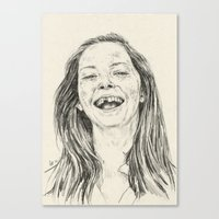 tooth Canvas Prints featuring tooth by Daria Golab
