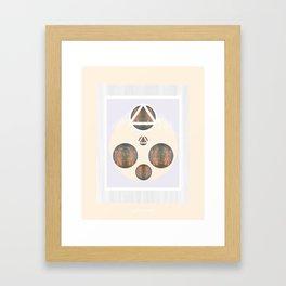 Monkey Head: Circle & Triangle Framed Art Print