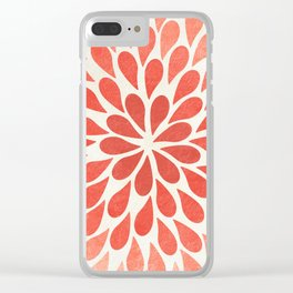 Living Coral Petal Burst Clear iPhone Case