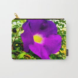 The Purple Flower Carry-All Pouch