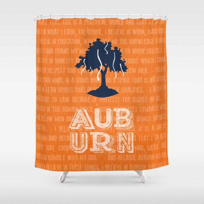 Auburn Creed Shower Curtain