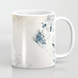 Sunset [1]: a bright, colorful abstract piece in blue, gold, and white by Alyssa Hamilton Art Coffee Mug