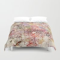 minneapolis Duvet Covers featuring Minneapolis by MapMapMaps.Watercolors