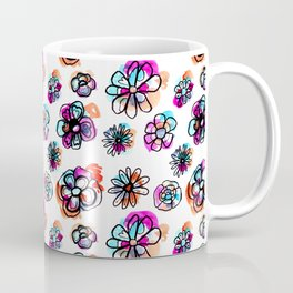 colorful fall floral Coffee Mug