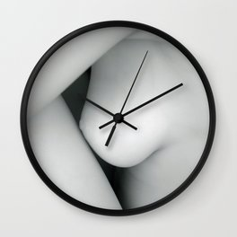 4077  Breast, Thigh and Arm B&W Nude Woman Naked Desert Feminine Classic Female Form Beautiful Wall Clock