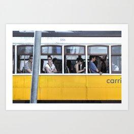 Tram stories Art Print