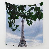 eiffel Wall Tapestries featuring Eiffel by M. Gold Photography