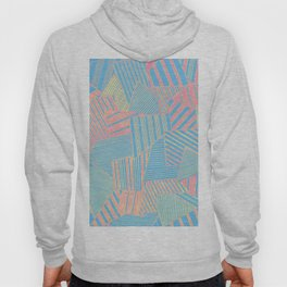 Abstract crystal in blue and pink Hoody