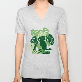 One-Legged King Pigeon Pose Unisex V-Neck