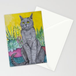 Cactus Cat Stationery Cards