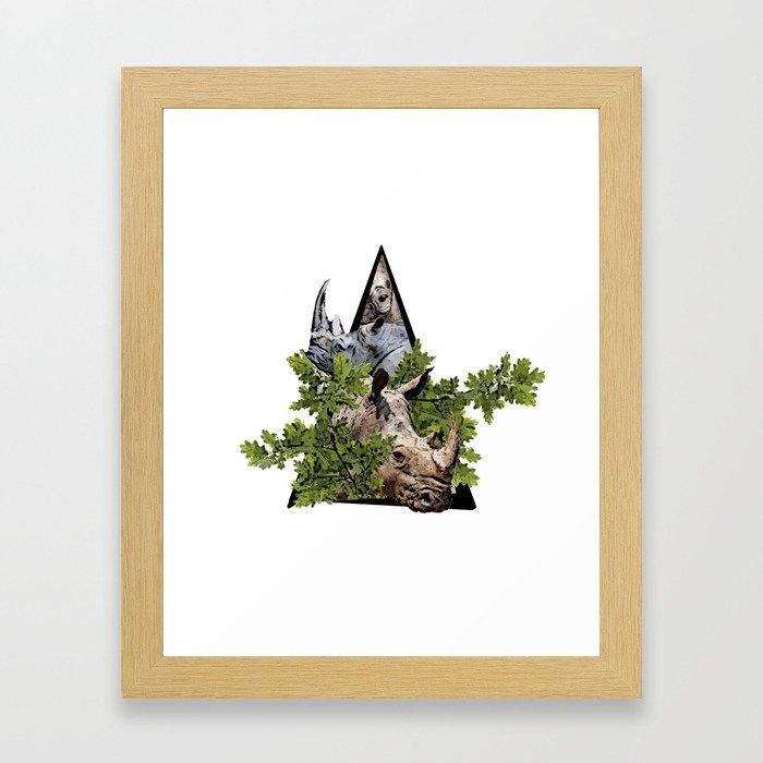 Jungle Animal Rhinocero ArtWork Framed Art Print