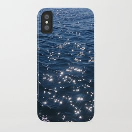 Sparkly Deep Blue Sea Waves iPhone Case
